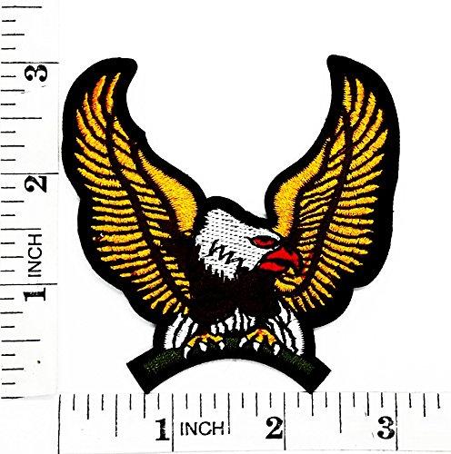 American Bald Eagle Hawk Bird Flying Wild Animal Choppers Lady Biker Motorrad Patch Hand bestickt und Bügelbild Symbol Jacke T-Shirt patches aufnäher Zubehör (Die Dame Aus Der Birds Kostüm)