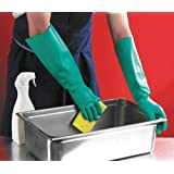 SAFEYURA Cleaning Gloves - Home, Kitchen, Dish Washing, Bathroom, Toilet -Acid Oil & Caustic Chemical Resistant, Long Sleeve