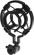 Electomania® Universal Microphone Shock Mount Cradle Holder Clip Stand (Black)