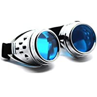 Ultra Steampunk Victorian Cyber Glasses Punk Cosplay Gothic Round Glasses