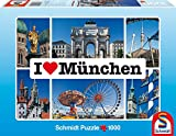 Schmidt Spiele 59284 - I love München, 1000 Teile Puzzle
