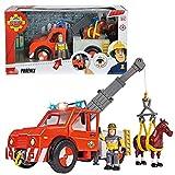 Feuerwehrmann Sam - Fahrzeug Tierrettung Phoenix mit Licht & Pferd und Sam