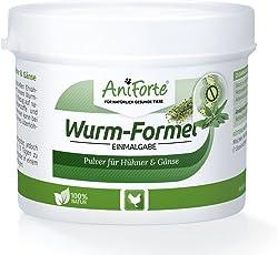 AniForte Wurm-Formel 50 g für Hühner, Gänse, Enten und Großvögel, praktische und 100 Prozent natürliche Einmalgabe Bei und Nach Wurmbefall