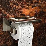 welinks Toilettenpapier-Halter mit Handy Ablage Rack, Edelstahl Badezimmer Papier Tissue Roller Halterung, Wandhalterung Papier Handtuch Spender Haken Reinigende Behälter Pattern A