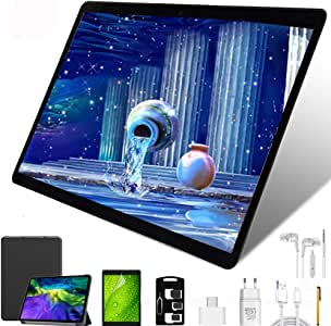 Tablet 10 Pollici con Wifi Offerte, Android 9,0 4G LTE Dual Sim 64 GB ROM,4GB RAM,Octa-Core Doppia Fotocamera Tablet Android (Nero)