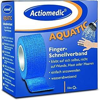 Actiomedic AQUATIC Schnellverband, blau, 5 cm x 7 m, selbsthaftend
