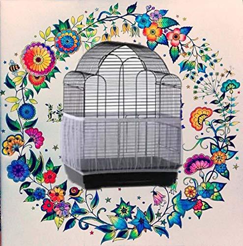 TianranRT Vogel Käfig Samen Catcher Samen Wache Papagei Masche Netz Abdeckung dehnbar Schale (Weiß,L) - Vögel Die Für Samen