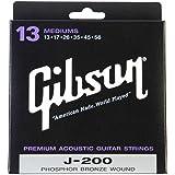 Gibson Sag J200 M J200 .013 .056 – Medium Guitar Strings for Western Guitar
