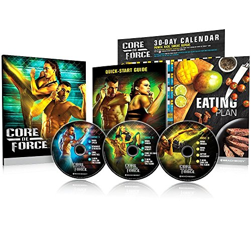 Beachbody Core De Force Mixed Martial Arts Workout DVD-Programm Base KIT - Kickbox, Box und Muay Thai Training -