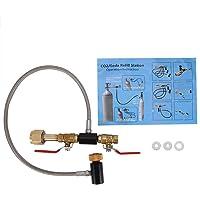 Adaptateur de recharge de cylindre de CO2 G1/2 avec tuyau pour remplissage de réservoir Sodastream