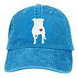 Linkla Danniol Mens Vintage Dad Denim Hat Adjustable Trucker Cap - Pitbull Heart