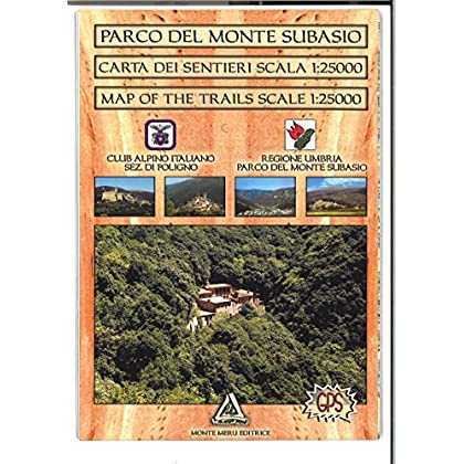 Parco Del Monte Subasio. Carta Dei Sentieri 1:25.000