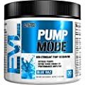 Evlution Nutrition Pump Mode Nitric Oxide Booster to Support Intense Pumps, Performance and Vascularity (Blue Raz) by Evlution