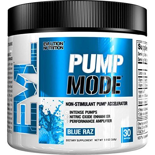 Evl Nutrition Pump Mode 30 Serv Blue Raz Vitamine C
