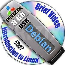 Debian 8 sur 8 GB flash USB et DVD d'installation complet 3-disques et Set de reference ensemble, 32 et 64-bit