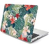 MacBook Pro 13 Retina Case, GMYLE Duro caso brillante impresión de MacBook Pro 13 with Retina display (Model: A1425 and A1502) – Plantas tropicales (hibisco rojo) (no aptos para el MacBook Pro 13)