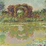 Artland Qualitätsbilder I Poster Kunstdruck Bilder 70 x 70 cm Menschen Malerei Bunt A2VQ der Rosenbogen in Giverny