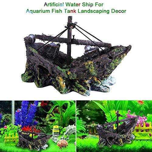 Liukouu Ornament Boot, für Wasser Aquarium Aquarium Kunstharz Landschaftsbau Dekor