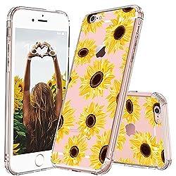MOSNOVO iPhone 6S Hülle, iPhone 6 Hülle, Blossom Blühen Blumen Flower Muster TPU Bumper mit Hart Plastik Hülle Durchsichtig Schutzhülle Transparent für iPhone 6 / iPhone 6S (Sunflower)