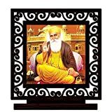 #7: CRAZYINK Printed Guru Nanak JI Wooden Home Décor Showpiece | Design 10 | Pure Wood | Wooden Showpiece | Printed Showpiece | Unique for Gift and Home and Office Decoration | Temple Worship (10 x 8 x 1.5 CM)