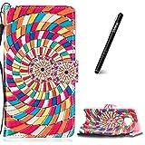 Slynmax Coque Galaxy S7 Edge,Samsung Galaxy S7 Edge de de Corde e Luxe Peinture Etui Portefeuille en Cuir PU Porte- et Pliable Couvercle Table de pour Samsung Galaxy S7 Edge + 6 * Noir Stylo