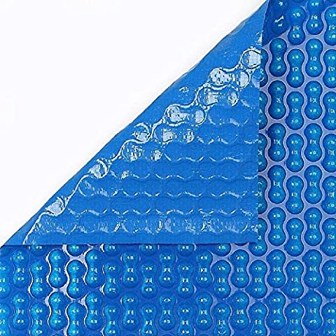 Summer swimming pool cover Geobubble 700 micron Polyethylene 14x34 ft pool (With reinforcement on the two narrow