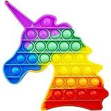 AURSTORE Jouets Anti-Stress - Fidget Toy - Push It - Pop Bubble - Jouets Sensoriels à Presser en Silicone pour la Concentrati