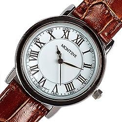 Montine Roman Numerals Brown Leather Analogue Quartz Classic Ladies Watch