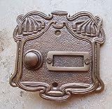 Graf von Gerlitzen Antik Messing Klingel 1 Jugendstil Klingelschild Klingelplatte K20A