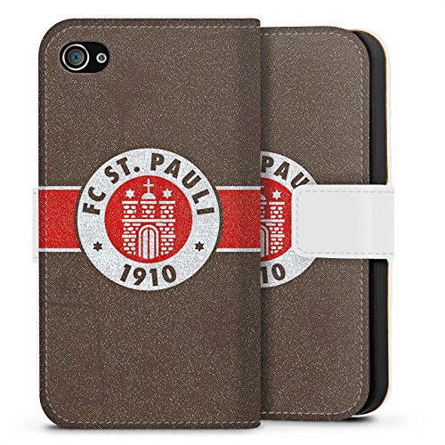 Apple iPhone 7 Silikon Hülle Case Schutzhülle FC St. Pauli Fanartikel Fußball Sideflip Tasche weiß