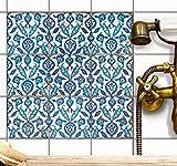 creatisto Dekor-Fliesen Fliesenaufkleber Fliesensticker | Fliesen überkleben Aufkleber Folie Sticker für Badfliesen - Küche Deko Badezimmer-gestaltung | 10x10 cm - Design Hamam Vibes - 9 Stück