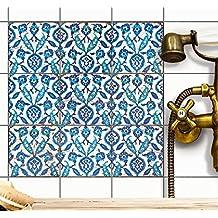 Decorazione piastrelle autoadesive | Adesivi murali sticker piastrelle bagno - adesivo-cucina pavimento | 10x10 cm - Motivo ?Hamam-Vibes - Set 18 pezzi
