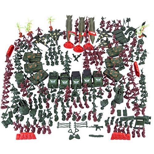 Polai 301pcs soldatini militari plastica soldatini giocattoli militari