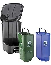 Nayasa superplastt Twin Bin Dry and Wet Waste Dustbin (35 L)
