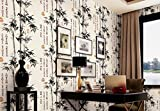 Classic wallpaper, 3D, ink, bamboo, living room, study, teahouse, wallpaper, background, wall, wallpaper,black