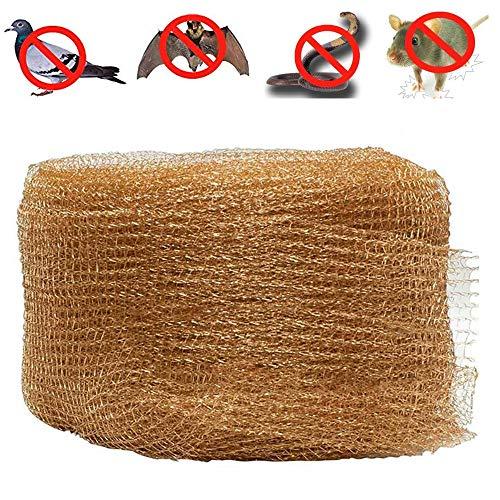 Leegoal Kupfer-Mesh, 100% Reines Kupfer Mesh Wäscher für Schädlingsbekämpfung, Ratte Nagetier Schnecke Snake Bat Insekt Maussteuerung (50ft) -