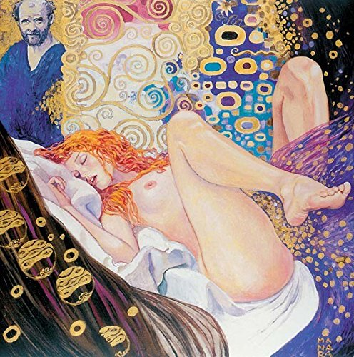 klimt-by-milo-manara-originale-quadro-canvas-su-tela-in-legno-tiratura-limitata-l60-x-h60-cm