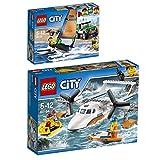 Lego City 2er Set 60149 60164 Geländewagen mit Katamaran + Rettungsflugzeug