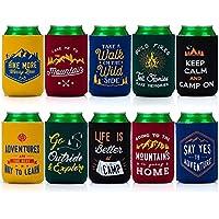 Avery Granero 10 piezas, cremallera de neopreno aislante para botella de cerveza, neopreno, Set 1: Great Outdoors, small