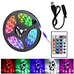 2M LED Strip Light TV Bias Backlight Kit for HDTV Desktop PC Fish Tank Decorations, Waterproof RGB Monitor Lighting with...