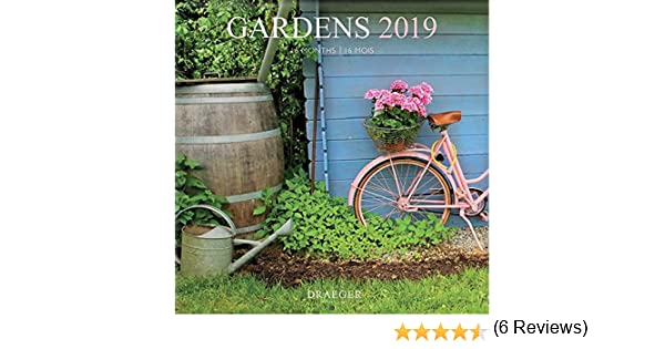 draeger 79003100/grande calendario da parete 29/x 29/cm Giardini 2019