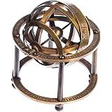 JapanAttitude - Esfera armilar de latón astronomía, 9 cm, estilo vintage pirata Steampunk Globe