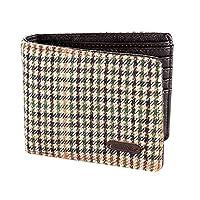 EuroStick Heritage Wallet Brown Houndstooth Tweed