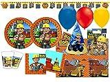 XXL 60 Teile Bob der Baumeister Geburtstag Party Deko Set für 6-8 Kinder