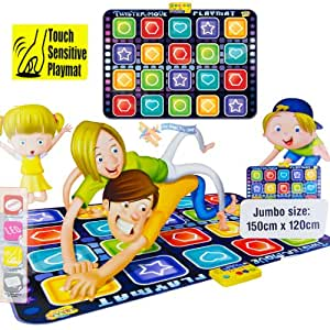 Twist and Move Twister Dance Music Musical Floor LED Party Game Play Mat Toy