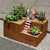New Creative Wooden Lattice Pots Desktop Storage Tool Planting Succulents Utility Herramientas