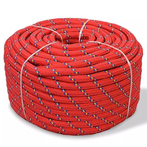 Festnight Cuerda Marina - Color Rojo Material Polipropileno