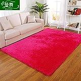 GRENSS Elastischer Seide Farbe Teppich moderner, minimalistischer Wohnzimmer Home Couchtisch sofa Schlafzimmer mit Etagenbetten und Decken, Bett 0,71 x 1,41 m, die rote Feder Kabel