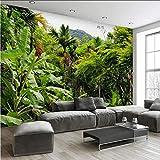 Zxfcccky Wandbild Fototapete Retro Tropischer Regenwald Kokospalme 3D Wandmalereien Wohnzimmer Restaurant Cafe Hintergrund Wand-Dekor 3D Fresko-280X200CM