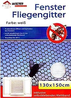 4 X Fenster Fliegengitter Insektenschutz Mit Klettband Fliegennetz M/ückengitter schwarz